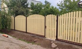 Забор из евроштакетника Воскресенск-min