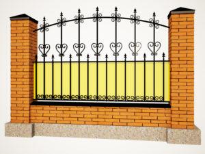 Дизайн забора из поликарбоната в Симферополе