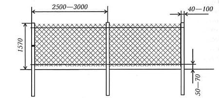 Натяжной забор из сетки-рабицы в Симферополе