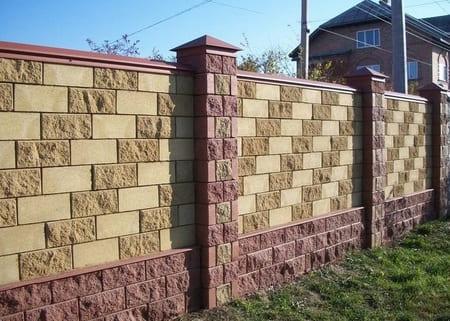 Забор из французского камня в Симферополе, Крыму