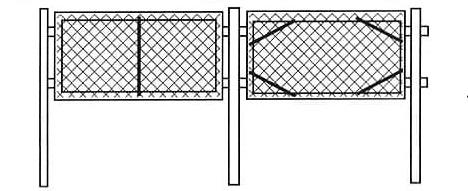 Секционный забор из сетки-рабицы в Симферополе