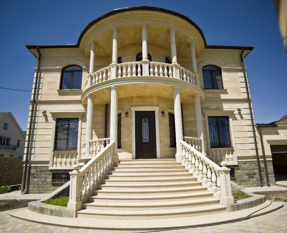 Купить дагестанский камень, отделка фасада камнем в Крыму. Цены и фото. Примеры работ